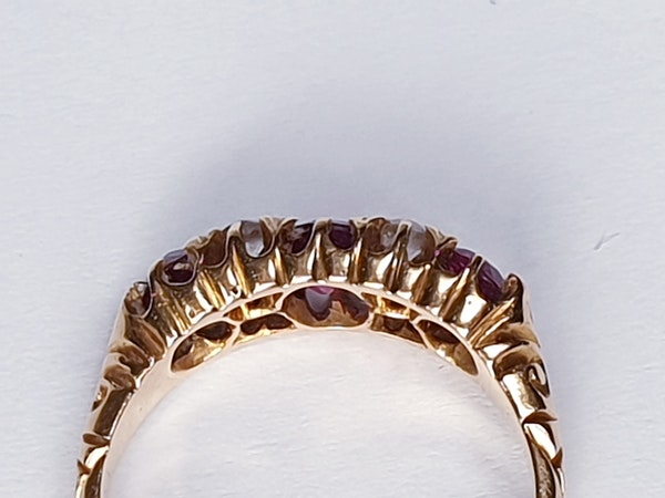 Victorian Ruby and Diamond Ring  DBGEMS - image 6