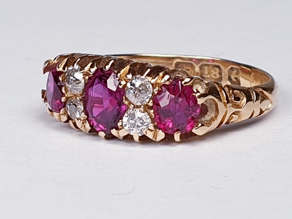 Victorian Ruby and Diamond Ring  DBGEMS - image 4