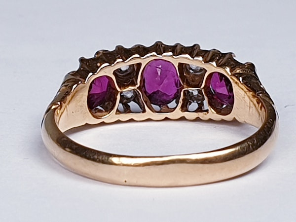 Victorian Ruby and Diamond Ring  DBGEMS - image 7