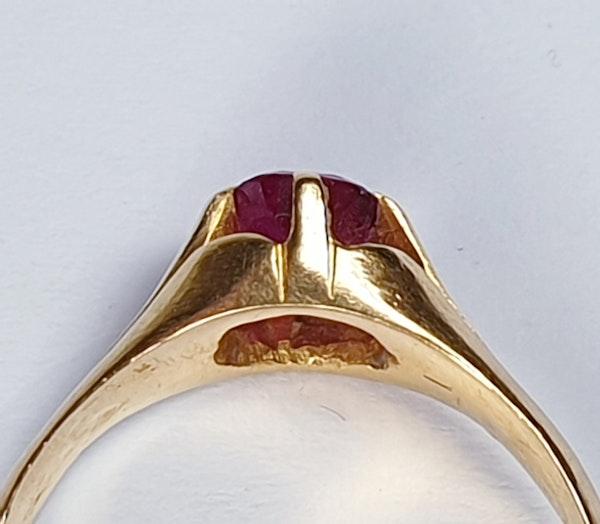 Single Stone Burmese Ruby Ring  DBGEMS - image 5