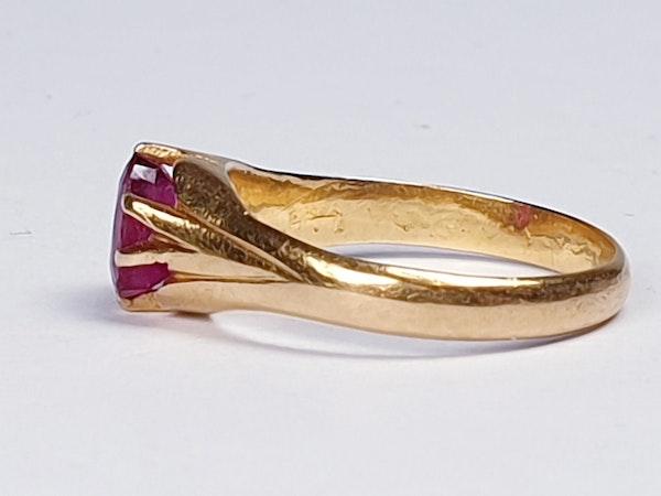 Single Stone Burmese Ruby Ring  DBGEMS - image 3
