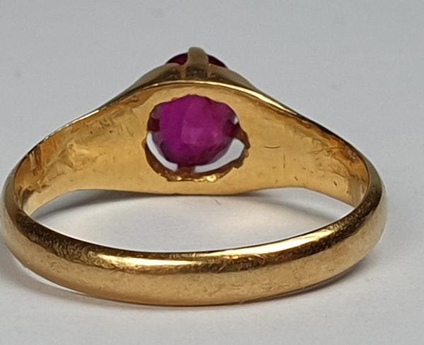 Single Stone Burmese Ruby Ring  DBGEMS - image 2