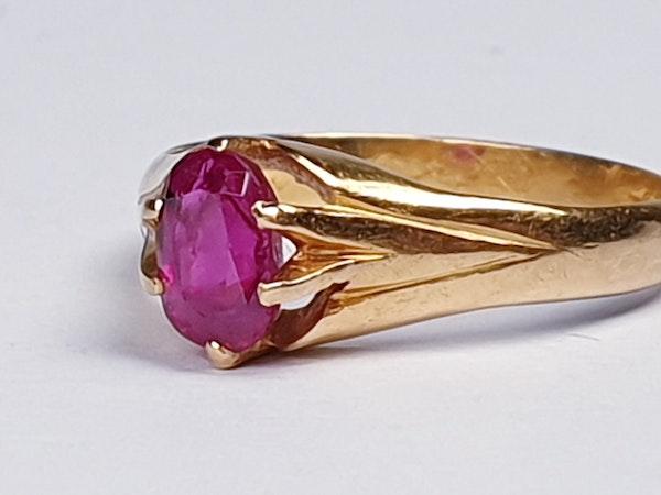 Single Stone Burmese Ruby Ring  DBGEMS - image 4