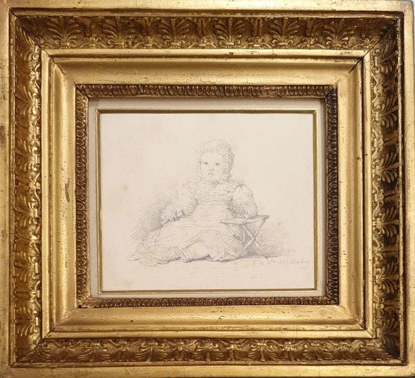 JB Isabey Portrait Study Of Eustachine-Jeanne D'Osmond 1827 - image 1