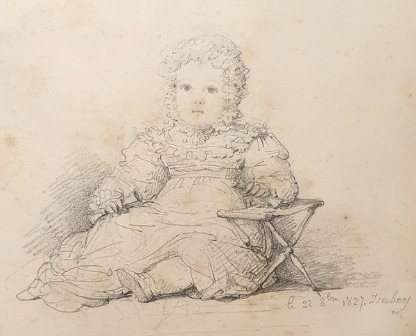 JB Isabey Portrait Study Of Eustachine-Jeanne D'Osmond 1827 - image 2