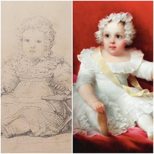 JB Isabey Portrait Study Of Eustachine-Jeanne D'Osmond 1827 - image 3