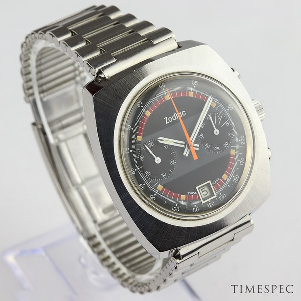 Zodiac Men's Vintage Chronograph Date 1970s Stainless Steel - image 3