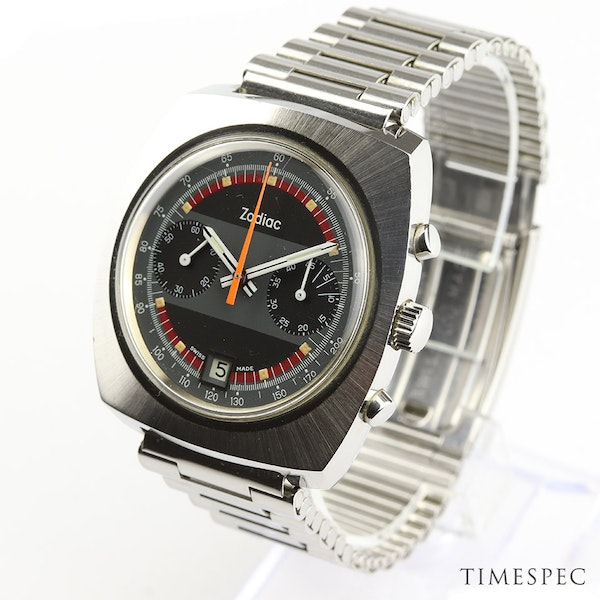 Zodiac Men's Vintage Chronograph Date 1970s Stainless Steel - image 2