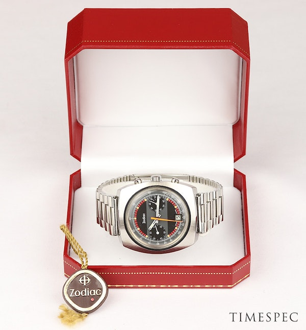 Zodiac Men's Vintage Chronograph Date 1970s Stainless Steel - image 6