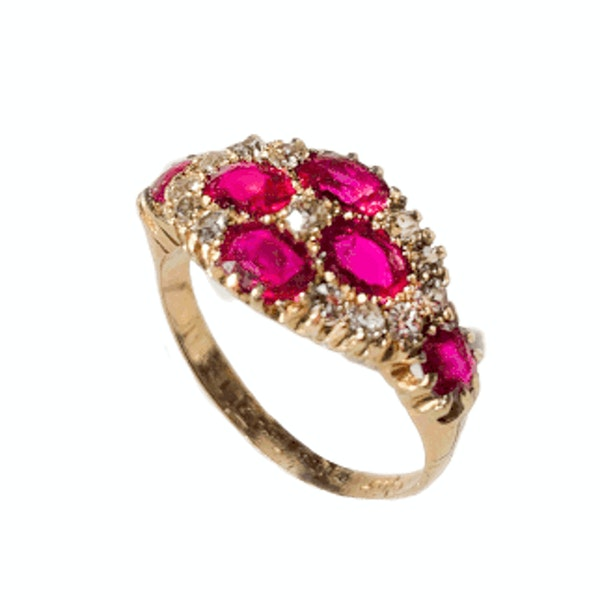 An Antique Ruby and Diamond Ring - image 2
