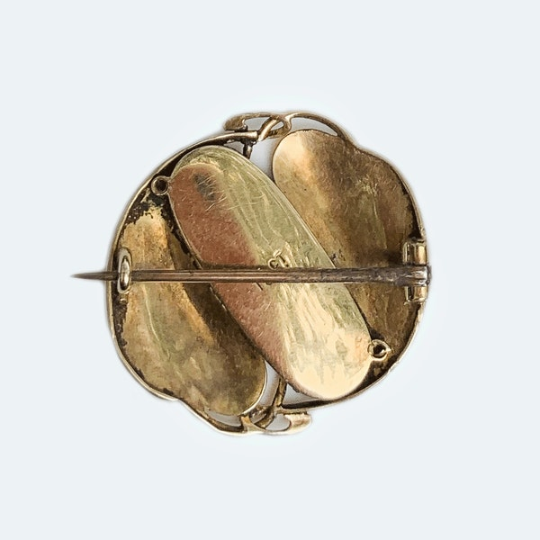 A Gold and Mother of Pearl Brooch by Archibald Knox - image 2