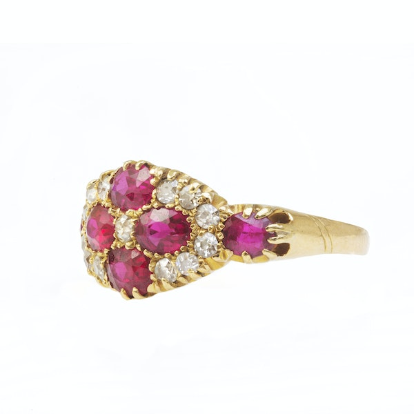 An Antique Ruby and Diamond Ring - image 3