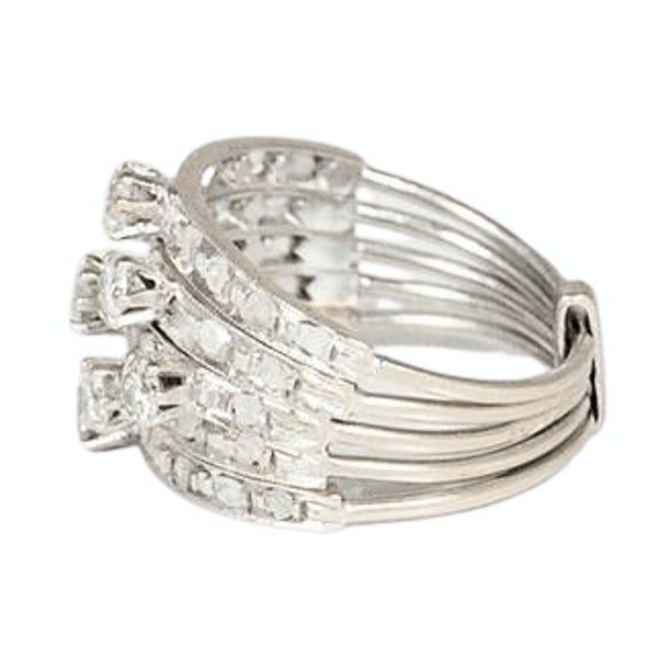 A 1920s Diamond and Platinum Harem Ring - image 2