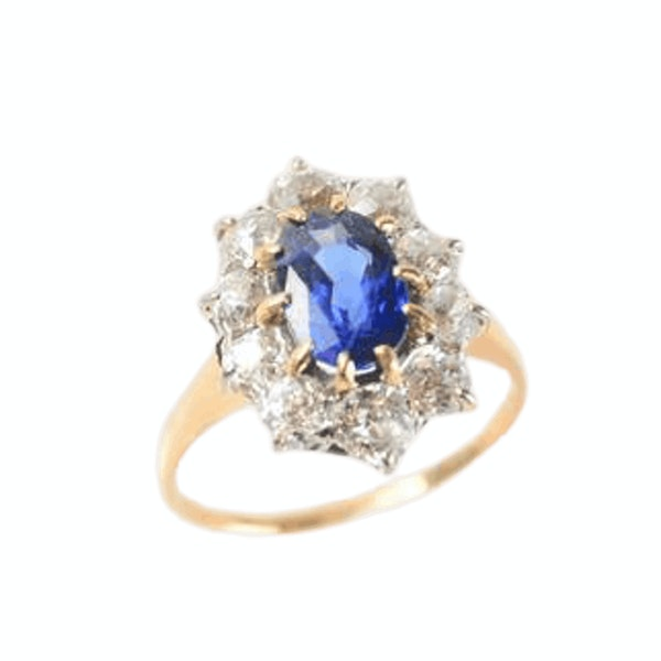 A 1940s Sapphire and Diamond Ring - image 2