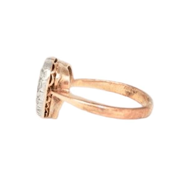 A 1900s Sapphire & Rose Diamond Heart Ring - image 1