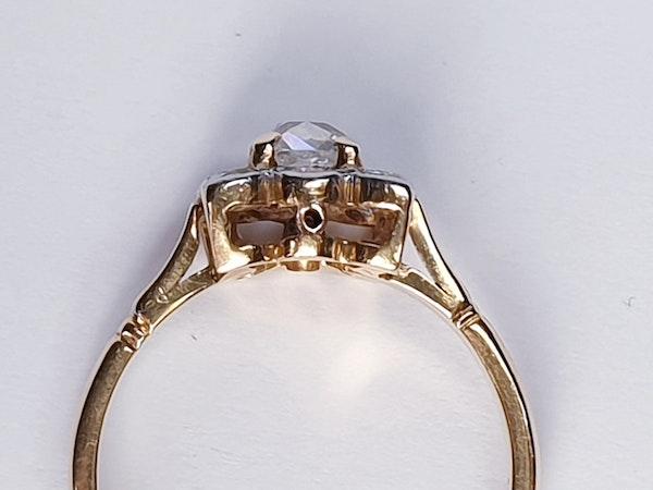 Antique Square Cushion Cut Diamond Ring  DBGEMS - image 3