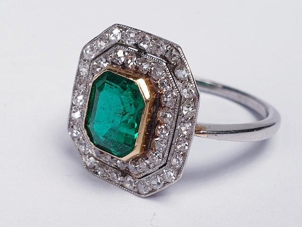 art deco columbian emerald and diamond  DBGEMS - image 2