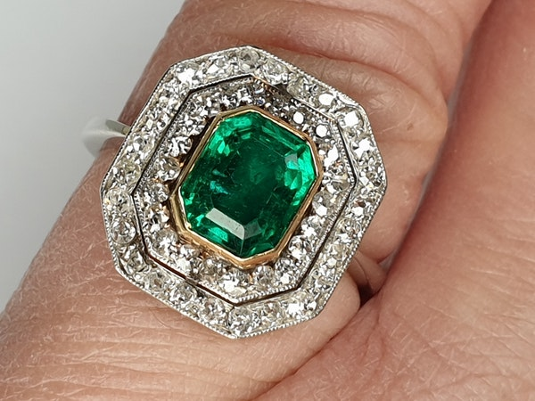 art deco columbian emerald and diamond  DBGEMS - image 3