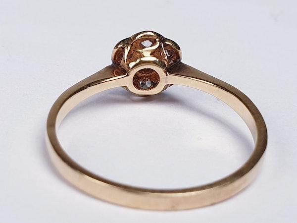 Edwardian Diamond Cluster Ring 1948   DBGEMS - image 2
