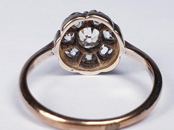 Antique Diamond Cluster Ring  DBGEMS - image 6