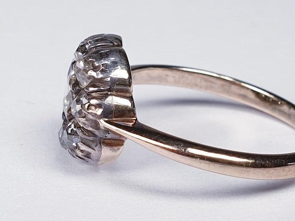 Antique Diamond Cluster Ring  DBGEMS - image 3