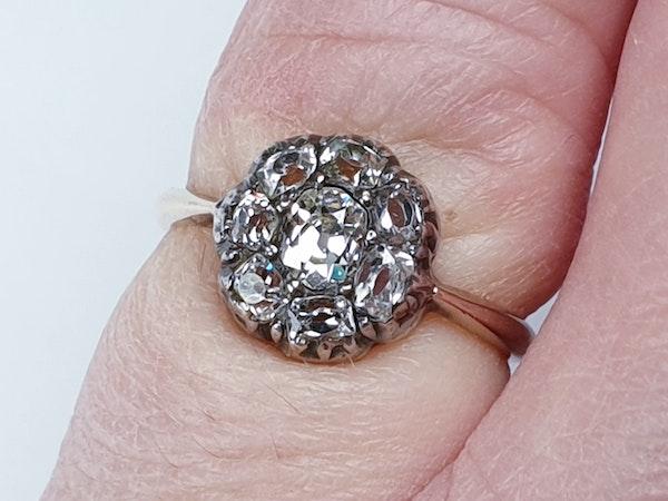 Antique Diamond Cluster Ring  DBGEMS - image 4