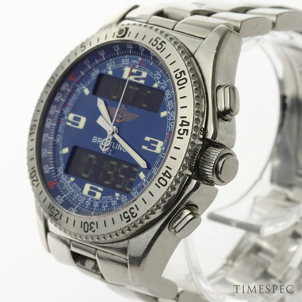 Breitling B1 A68362 Steel & Blue 44mm Mens Watch B-1 - image 2