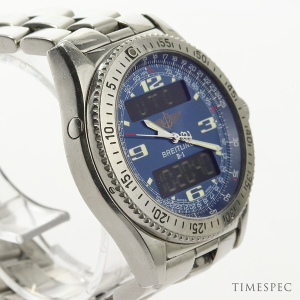 Breitling B1 A68362 Steel & Blue 44mm Mens Watch B-1 - image 3