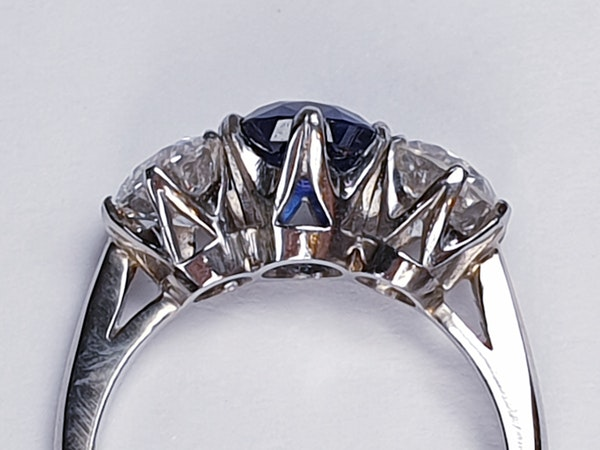1.52ct natural Burmese sapphire and diamond ring  DBGEMS - image 2