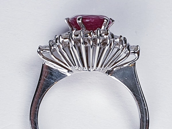 Ruby and Diamond Cluster Ring  DBGEMS - image 2