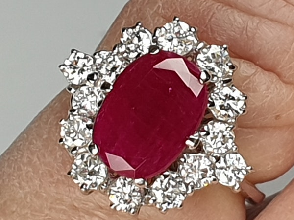 Ruby and Diamond Cluster Ring  DBGEMS - image 5