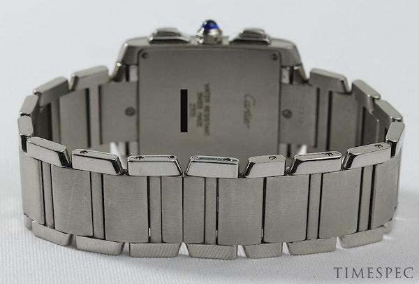 Cartier Tank Francaise, Chronograph, Chronoflex, Stainless Steel - image 5
