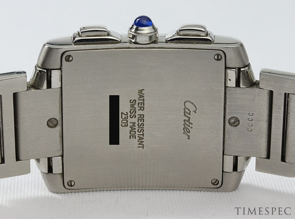 Cartier Tank Francaise, Chronograph, Chronoflex, Stainless Steel - image 7