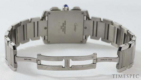 Cartier Tank Francaise, Chronograph, Chronoflex, Stainless Steel - image 6