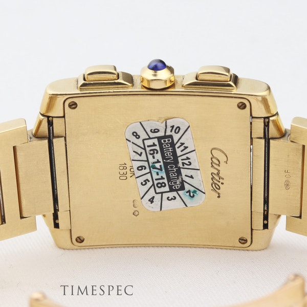 Cartier Tank Française, Chronoflex, Chronograph, Gents/Unisex, 18K Yellow Gold - image 6