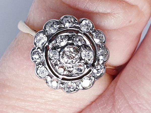 Edwardian Diamond Cluster Ring  DBGEMS - image 2