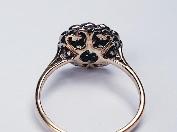 Edwardian Diamond Cluster Ring  DBGEMS - image 5
