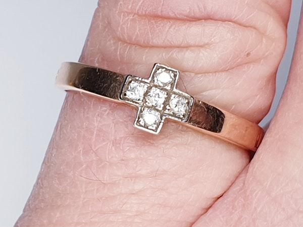 Antique Russian Diamond Prayer Cross Ring  DBGEMS - image 6