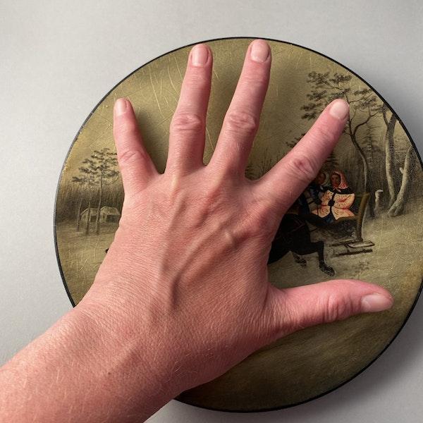 Date: circa 1880, Russian Lacquer Plate by Vichniakov, SHAPIRO & Co since 1979 - image 4