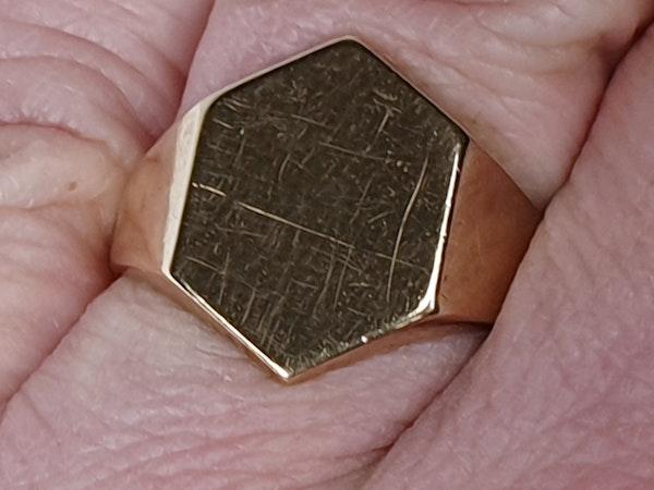Hexagonal Gold Signet Ring  DBGEMS - image 6