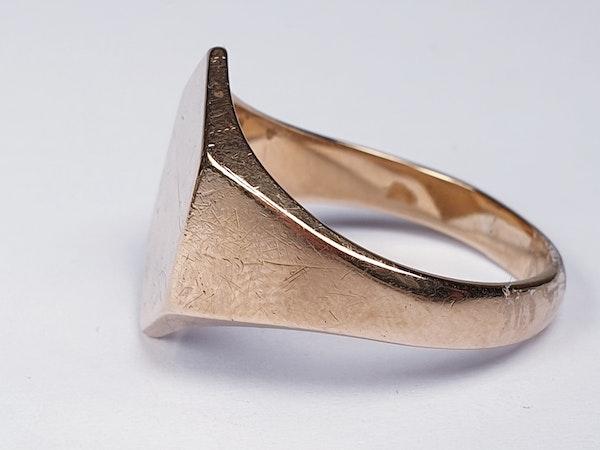 Hexagonal Gold Signet Ring  DBGEMS - image 4