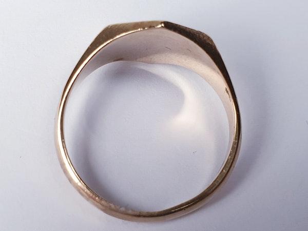 Hexagonal Gold Signet Ring  DBGEMS - image 3