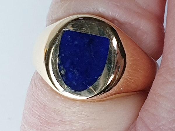 Lapis lazuli signet ring  DBGEMS - image 3