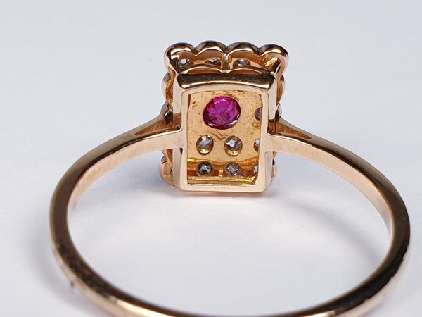 Edwardian Ruby and Diamond Panel Ring  DBGEMS - image 6