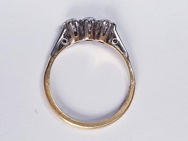 Antique Three Stone Diamond Engagement Ring  DBGEMS - image 2