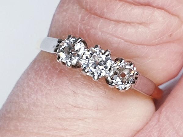 Antique Three Stone Diamond Engagement Ring  DBGEMS - image 3