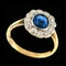MM6246r Edwardian sapphire diamond platinum set ring 1910c - image 1