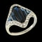 MM6494r French Art Deco Calibre  sapphire diamond platinum ring  1920c - image 2