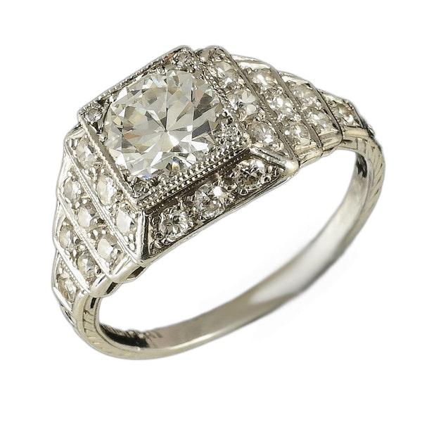 MM6505 Fine quality Art Deco  diamond ring 1920c - image 3