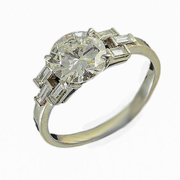 MM6356r Baguette diamond 1.60ct platinum 1920c ring - image 1